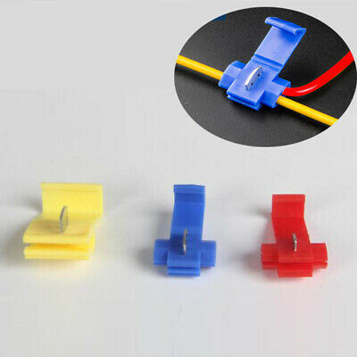 3 Colors Quick Splice Terminal Block Electrical Wire Connector No Wire-Stripping