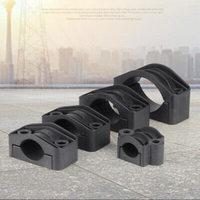 High-voltage Cables Wire Clips Clamp Flame Retardant PVC Tube Holder Fasteners
