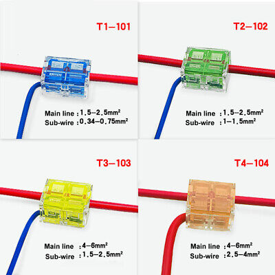 T-Tap Quick Splice Splitter Terminal Block Electrical Wire Connector - 4 Types