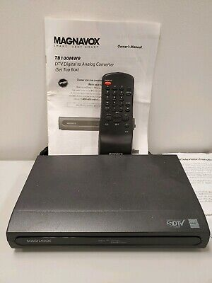 Magnavox DTV digital to analog converter box w/remote TB100MW9