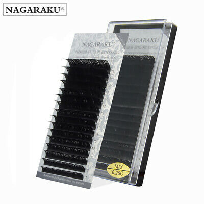 NAGARAKU Mix Length Natural False Eyelashes Mink Individual Eyelashes Extension