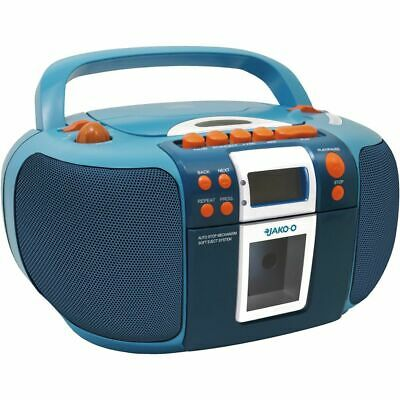 Kinder CD-Player mit Kassette JAKO-O SCD5406JA Boombox Radio (FM/AM) Soundmaster
