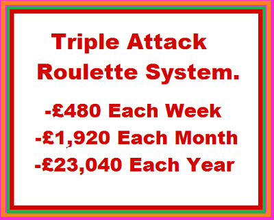 Triple Attack Roulette System | 100% Successful Roulette Strategy