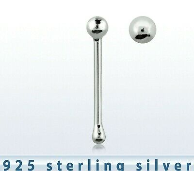 Tiny Sterling Silver Ball Nose  Stud Bobble End 69