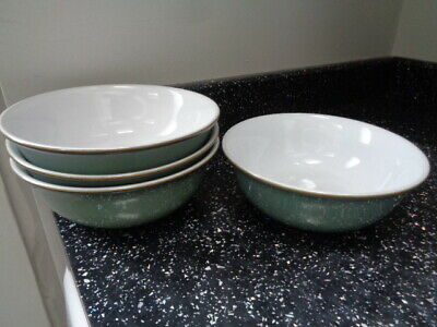Denby Regency Green Cereal Bowl X 4