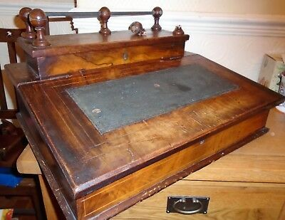 Antique Wooden Desktop Writing Slope Bureau for Restoration. Wirral Collection