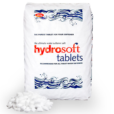 q1 Pack Hydrosoft Tablets 25KG Salt Recommended For All Water Softeners Purifier