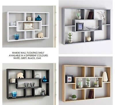 Stylish And Attractive Space Saving Multi-Compartment Wall Shelf Storage Unit
