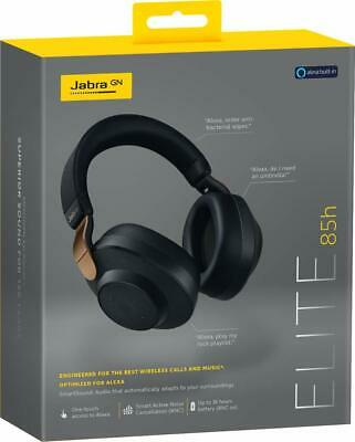 Jabra Elite 85h - Copper Black Over Ear Headphones with ANC and SmartSound Techn