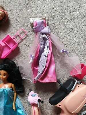 Barbie Bundle - Dolls -barbie Moped- accessories-