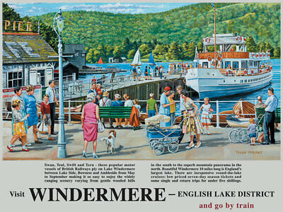 Windermere English Lake District Transport Boat Small Metal/Steel Wall Sign