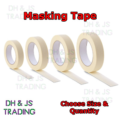 Masking Tape Indoor Outdoor Painting Decorating DIY Car Auto (24mm - 48mm x 50M)
