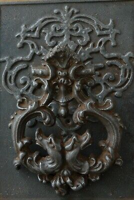 RARE LARGE Antique Victorian Cast Iron Door Knocker Original Patina Hardware