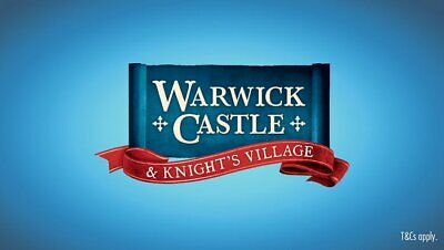 2 E-Tickets For Warwick Castle For Tuesday, 23 July 2019