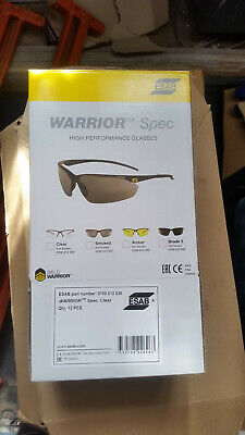 Esab Warrior Spec Clear Safety Glasses for Metalwork/Grinding (Box of 12)
