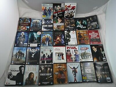 31 DVD Job Lot Bundle Star Trek Star Wars Mummy Jason Bourne Maleficent