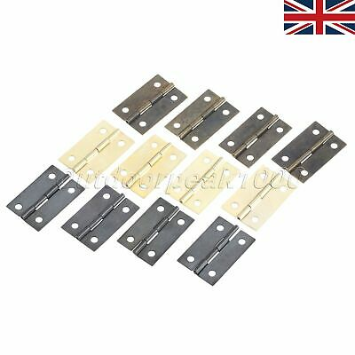 UK STOCK Retro Zinc Alloy Jewelry Mini Flat Music Wooden Box Hinge 35*21mm 10Pcs