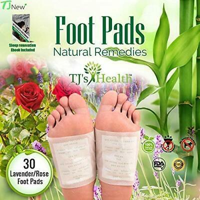 TJ's Health Organic Sleep Foot pads | 30 rose & lavender feet patches
