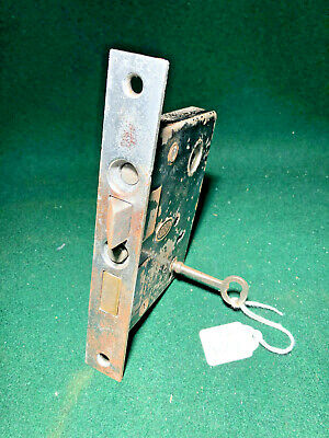 CORBIN #1251 ENTRY MORTISE LOCK with KEY - FULLY RESTORED - VERY NICE (4135)
