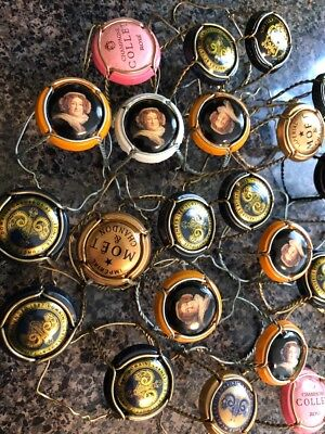 25 Champagne / Sparkling Wine Cork Wire Cage, Capsule Cap Crowns, Great Colors