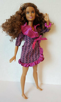PETITE Barbie Fashionistas Doll # 24 Crazy for Coral Redressed for OOAK or play