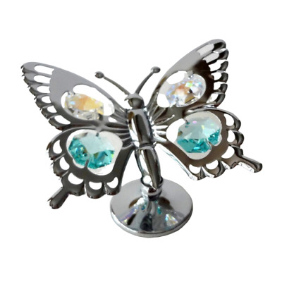 Crystocraft Butterfly Crystal Ornament Made With Swarovski Elements Gift Boxed