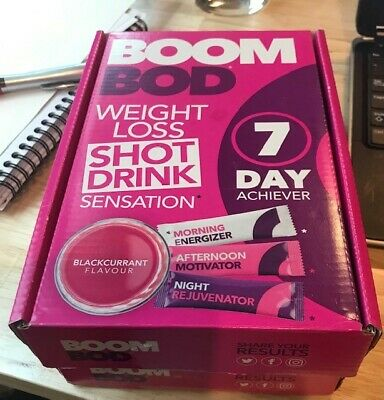 2 BOXES of BOOMBOD 7 Day Achiever 21 Sachets / BOOM BOD / FREE POSTAGE