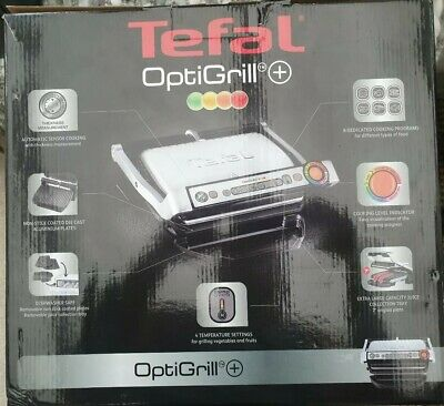 Tefal GC713D40 OptiGrill+ Health Grill with Removable Plates Silver