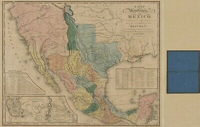 "HP  16"" x 24"" 1846 Map of the United States of Mexico : as organized and defined"