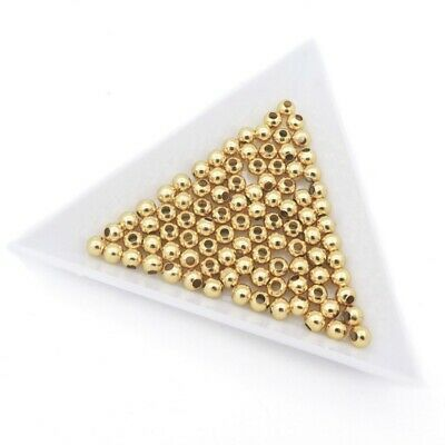 50 x Gold Tone Stainless Steel 4 x 3.5mm Round Hollow Spacer Beads