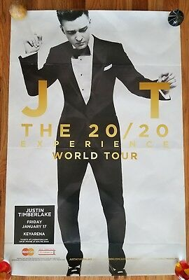Justin Timberlake: The 20/20 Experience World Tour Poster SEATTLE PROMO ONLY
