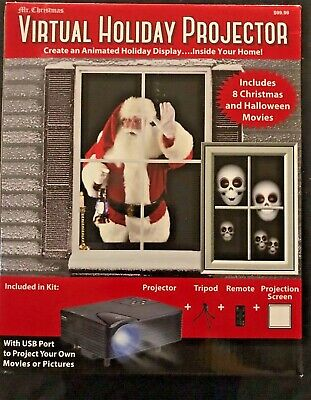 Mr. Christmas Virtual Holiday Projector comes w/Tripod,Remote&Projection Screen