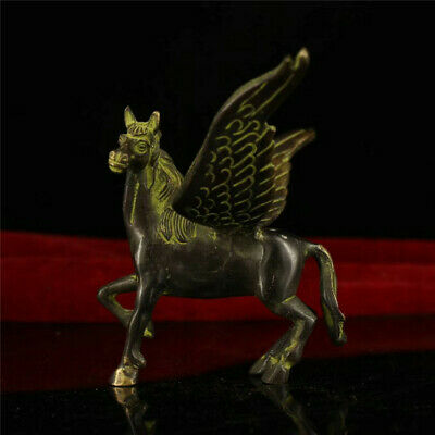 Collection old Chinese copper bronze Hand made Pegasus Horse Flying Horse Statue