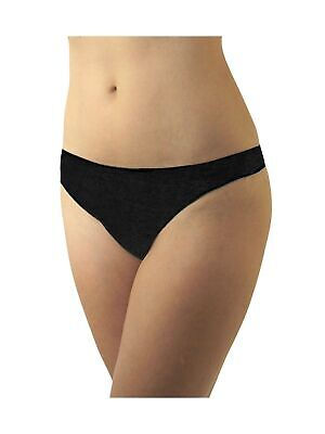 Underworks Womens Disposable 100% Cotton Thong Panties - for Travel- Hospital...