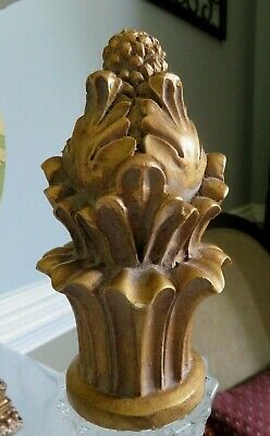 French Country Ornate Gold Finial ~ 6""