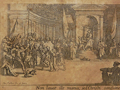 Jacques Callot (1592-1635) Engraving Antique Radierungen Acquaforte Recorded