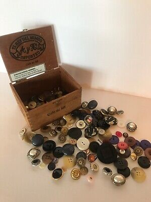 Junk DrAWer Box Of Vintage*now Buttons