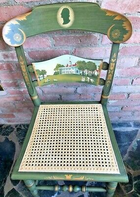 Hitchcock~ SIGNED LMT.EDITION PRESIDENTIAL CHAIR-WASHINGTON'S MOUNT VERNON ~Exc.