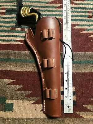 45 SAA CROSS Draw Cowboy Tooled Western Leather Holster