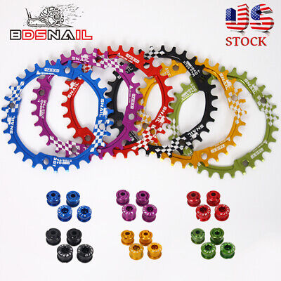 SNAIL 30t/104bcd 6Colors Narrow Wide Single Round MTB Bike Crankset Chainring