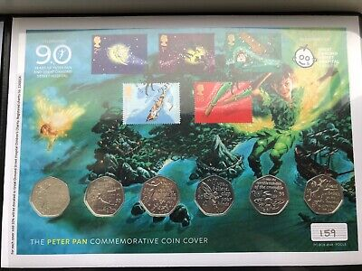 2019 Isle of Man Peter Pan 50p Coin Set Coin Cover Edition Limit 750 COA 159