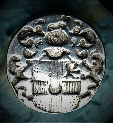 The BURKE / De-BURGH. Irish Family Crest Silver Seal Fob Circa 1700 or Earlier.
