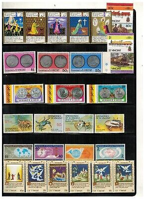 Lot of St.Vincent Grenadine Old Stamps MNH