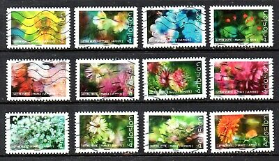 *New*  France - French - 2019 - Flora - Flowers- Full Set Of 12 Stamps