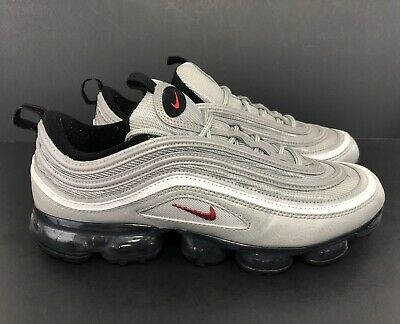 Nike Air Vapormax 97 Silver Bullet Running Shoes AJ7291-002 Men's Size 9.5