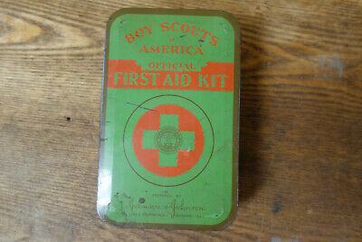 Vintage Boy Scouts of America Official First Aid Kit Tin No Contents