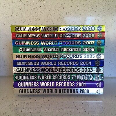 GUINNESS WORLD RECORDS BOOKS 2000 – 2009 collection ripley's believe it or not
