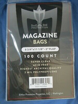 Max Pro Ultra Clear Magazine Bags - 8-3/4 x 11-1/8 - 100ct Pack