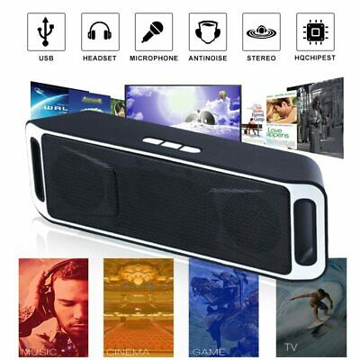 Portable Wireless Speaker USB Flash FM Radio Stereo Super Bass MP3 Player Sound