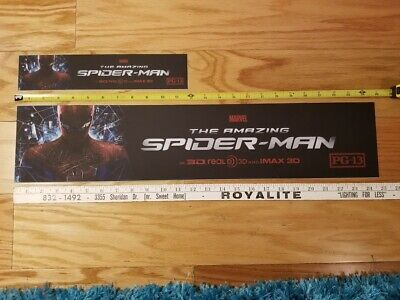 """The Amazing Spider-Man Mylar - Official Movie Theater - Large Size 5"""" x 25"""""""